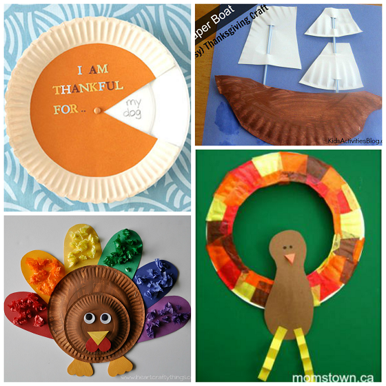 paper-plate-thanksgiving-kids-crafts  sc 1 st  Crafty Morning : crafts from paper plates - Pezcame.Com
