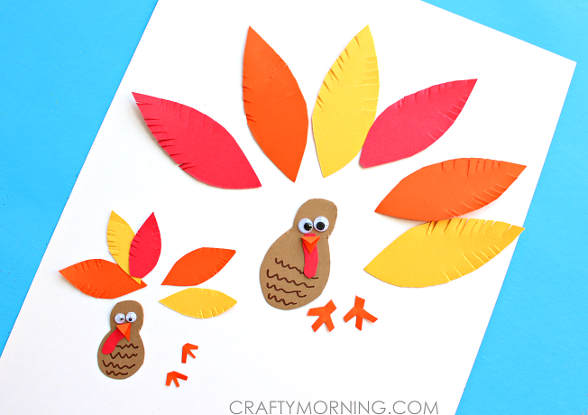 Simple Paper Turkey Craft For Kids Crafty Morning