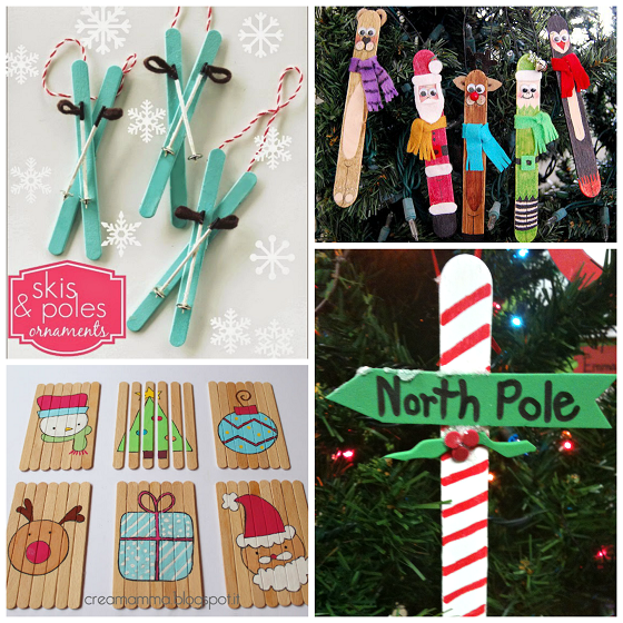 Lollipop Stick Christmas Decorations.Over 20 Christmas Popsicle Stick Crafts For Kids To Make
