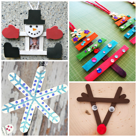 Popsicle Stick Christmas Crafts For Kids