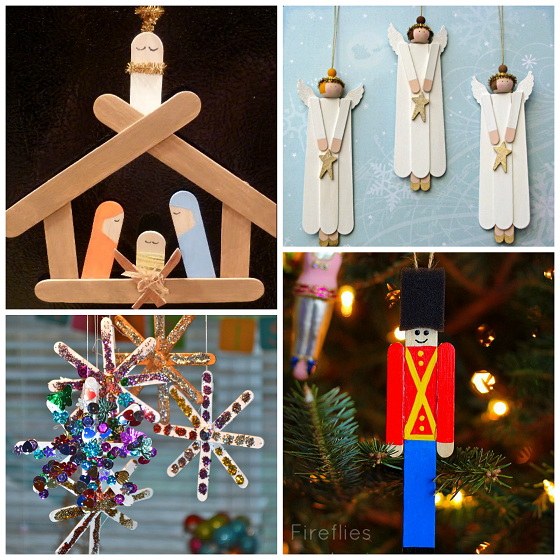 Popsicle Stick Christmas Kids Crafts
