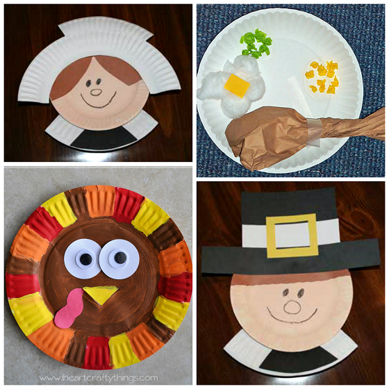 Thanksgiving paper plate crafts for kids crafty morning for Thanksgiving turkey arts and crafts