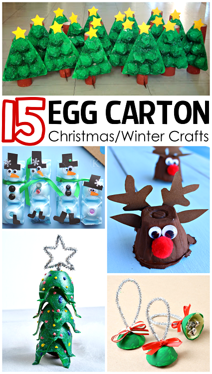 Egg-Carton Winter Crafts for Crafty Kids Christmas Morning