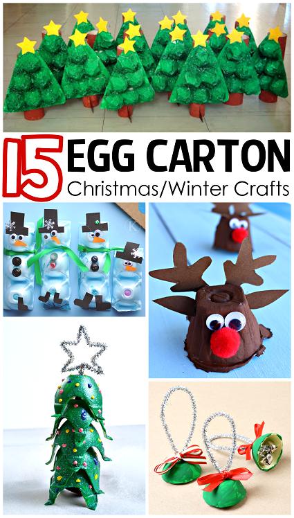 Christmas winter egg carton crafts for kids crafty morning for Winter holiday crafts for kids