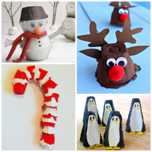 Christmas/Winter Egg Carton Crafts for Kids