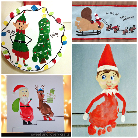 Adorable christmas footprint crafts for kids crafty morning for Holiday project
