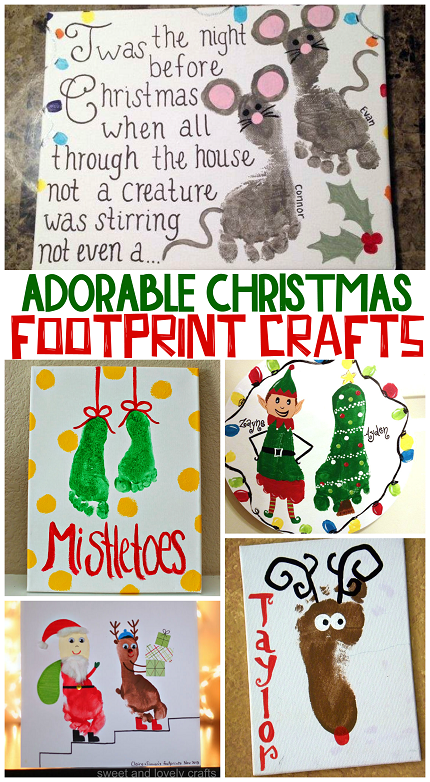 Adorable christmas footprint crafts for kids crafty morning for Christmas crafts for kids to make
