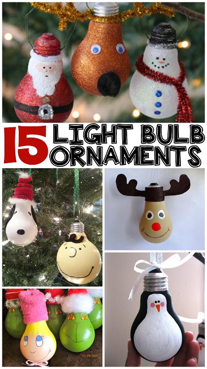 Christmas Bulb Craft Ideas Part - 17: Christmas-light-bulb-ornament-ideas-