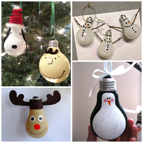 creative christmas light bulb ornaments