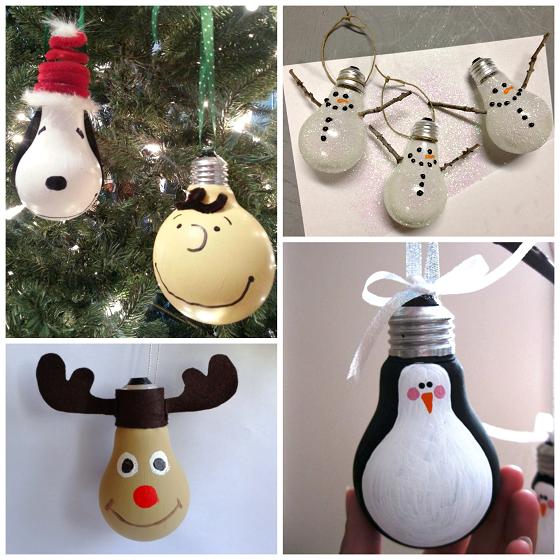 christmas-light-bulb-ornaments - Creative Christmas Light Bulb Ornaments - Crafty Morning