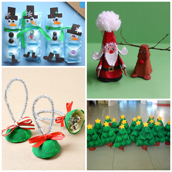Christmas winter egg carton crafts for kids crafty morning for Christmas decorations using egg cartons