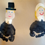Footprint Pilgrims and Cornucopia (Kids Crafts)