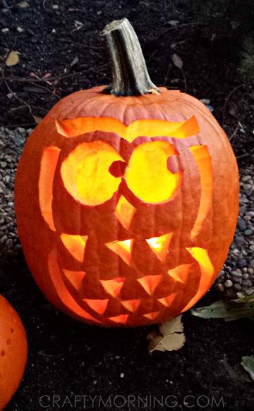 Owl pumpkin free template for halloween crafty morning