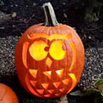 Owl Pumpkin (Free Template for Halloween)