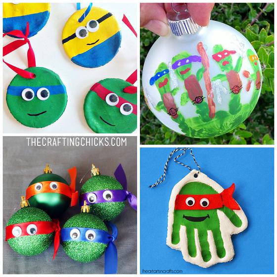 Salt Dough Craft Ideas For Kids Part - 27: Ninja-turtle-christmas-ornaments · Salt Dough ...