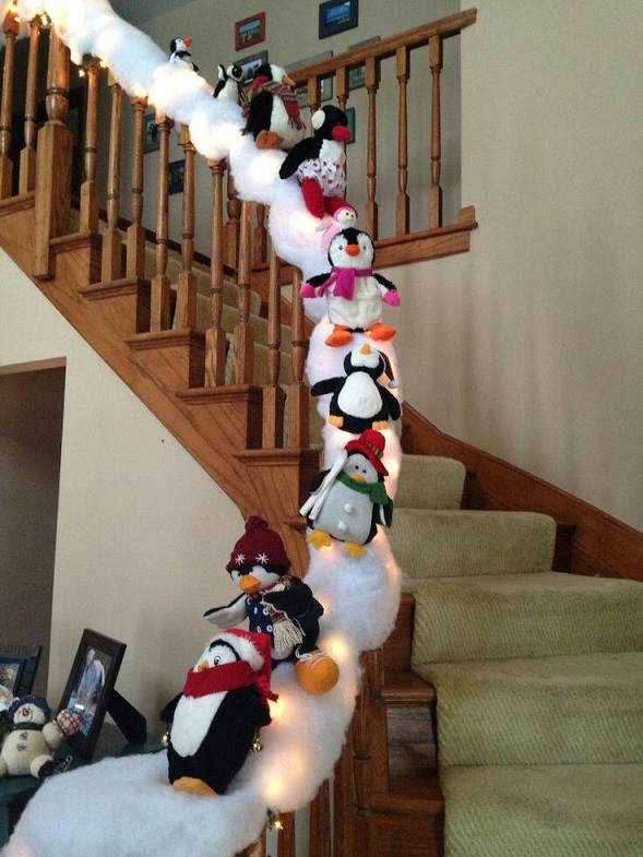 Most creative christmas decorations crafty morning for Stair railing decorated for christmas
