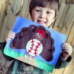 Turkey in Disguise Craft: Baseball Glove