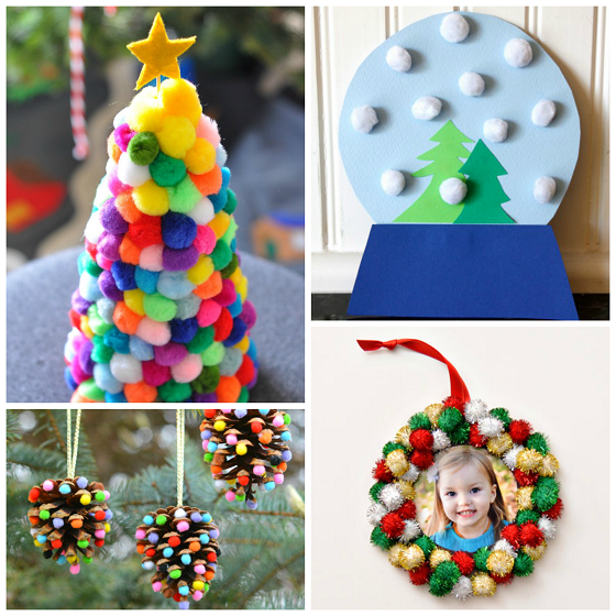 Pom pom christmas crafts for kids crafty morning for Christmas arts and crafts for kids