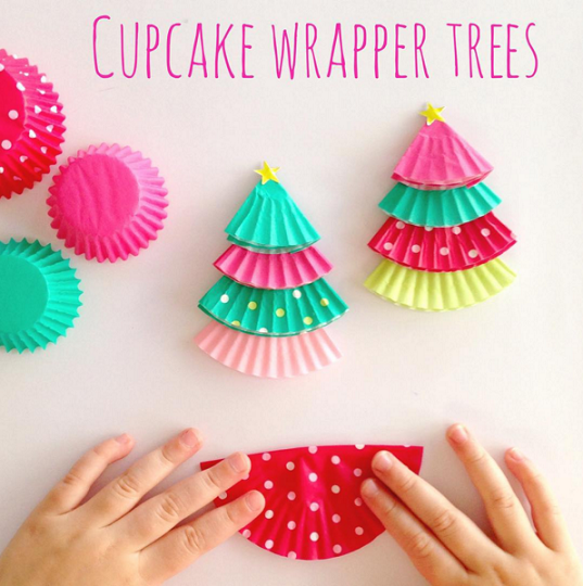 Cupcake Liner Christmas Tree Kids Crafts. U201c