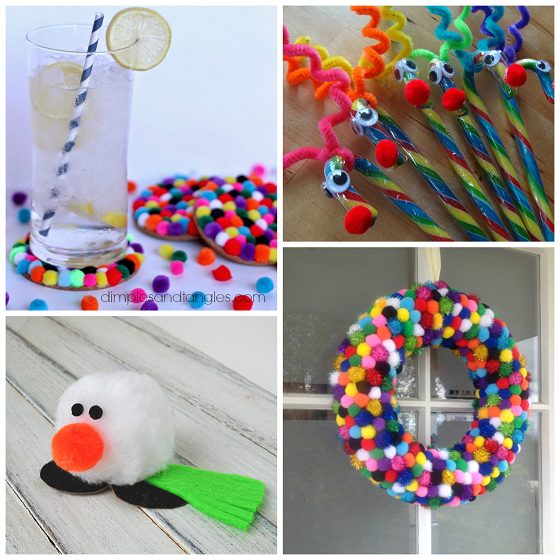 Cute Pom Christmas Crafts For Kids
