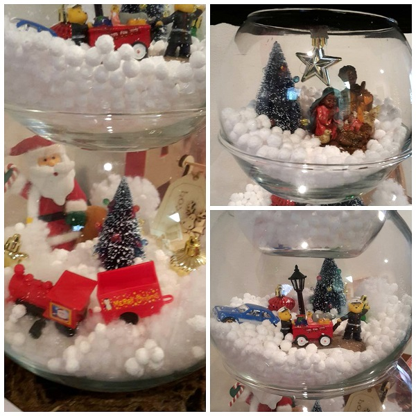 fish bowl snowman decoration christmas