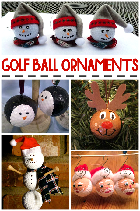 Christmas Golf Ball Ornament Ideas Crafty Morning