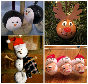 Christmas Golf Ball Ornament Ideas