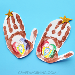 Handprint Stable (Jesus in a Manger Kids Craft)