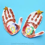 Handprint Stable (Jesus in a Manger Kids Craft)
