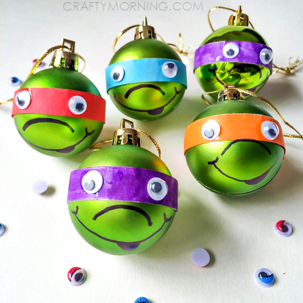 Ninja Turtle Christmas Ornaments (Kids Craft) - Crafty Morning