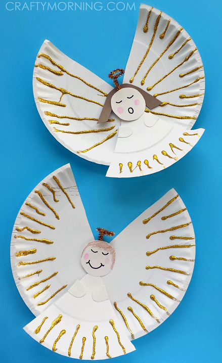easy paper plate angel craft for kids crafty morning