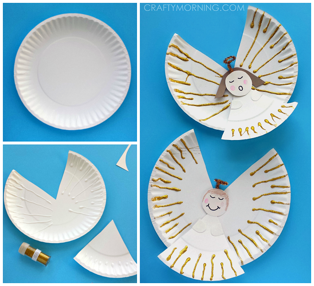 Paper Plate Angel Kids Craft Idea