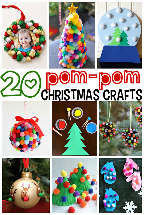 Pom pom christmas crafts for kids crafty morning for What to make with pom poms crafts