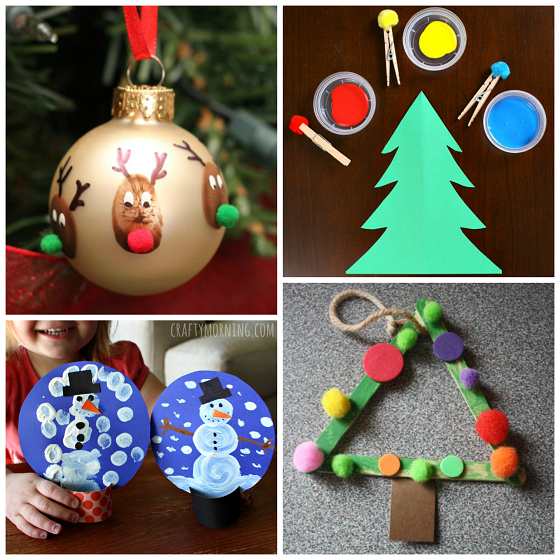 Christmas Preschool Art Projects.Pom Pom Christmas Crafts For Kids Crafty Morning