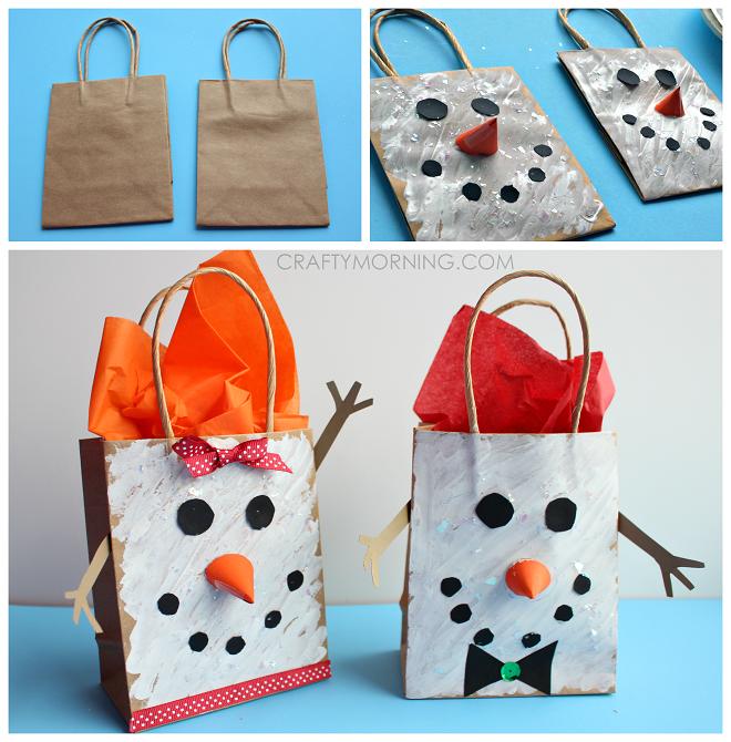 snowman-gift-bags-kids-craft-