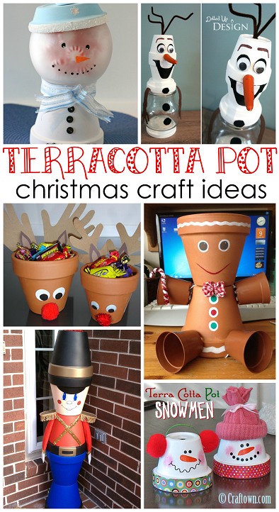 Creative Terra Cotta Pot Christmas Crafts Crafty Morning