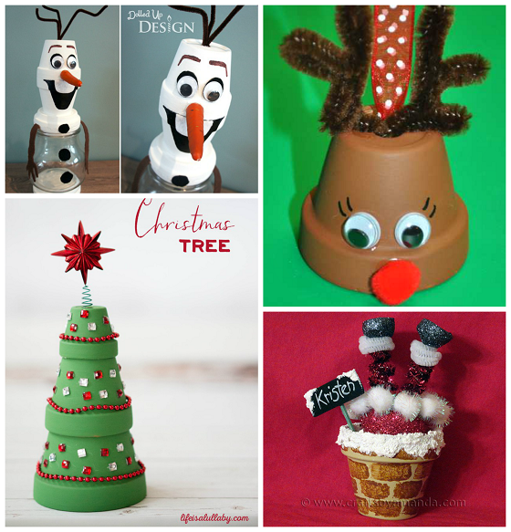 Creative terra cotta pot christmas crafts crafty morning for Art and craft pot decoration