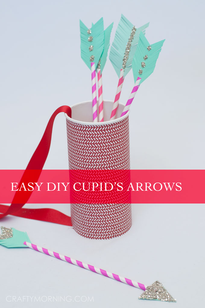 Paper Straw Cupid Arrows Kids Valentine Craft Crafty Morning