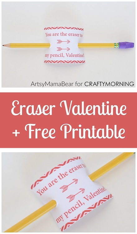 graphic regarding Pencil Valentine Printable called Youre the Eraser toward my Pencil\
