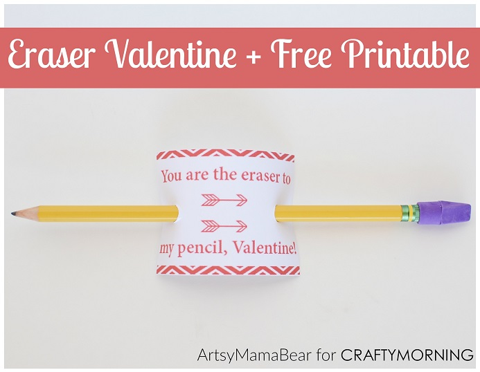 image about Pencil Valentine Printable identified as Youre the Eraser in direction of my Pencil\