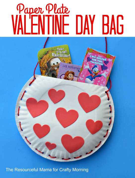 Paper Plate Valentine Bag Craft For Kids Crafty Morning