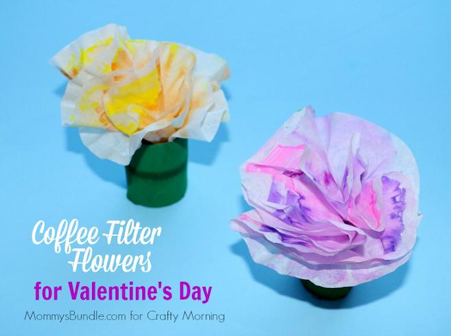 Coffee Filter Flower Craft FB