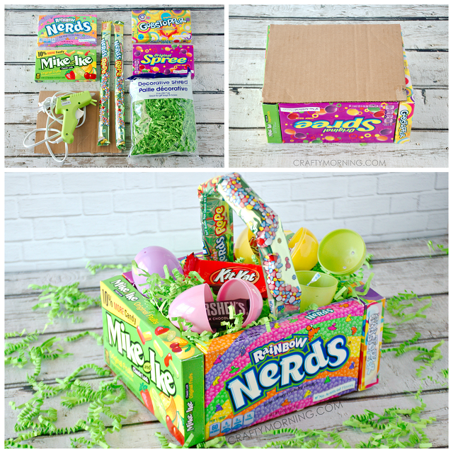 Diy candy easter basket for kids crafty morning candy easter basket idea kids negle