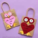 """Owl Always Love You"" Valentine Bags"