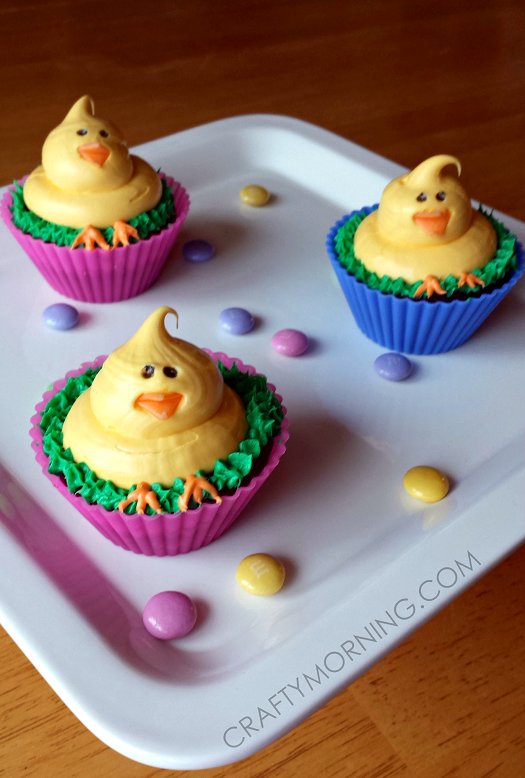 easter-chick-cupcakes-dessert-idea