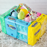 Edible Peeps Marshmallow Easter Baskets