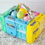 Edible Peeps Marshmallow Easter Baskets