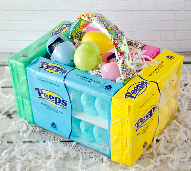 Edible peeps marshmallow easter baskets crafty morning edible peep easter baskets for kids negle Gallery