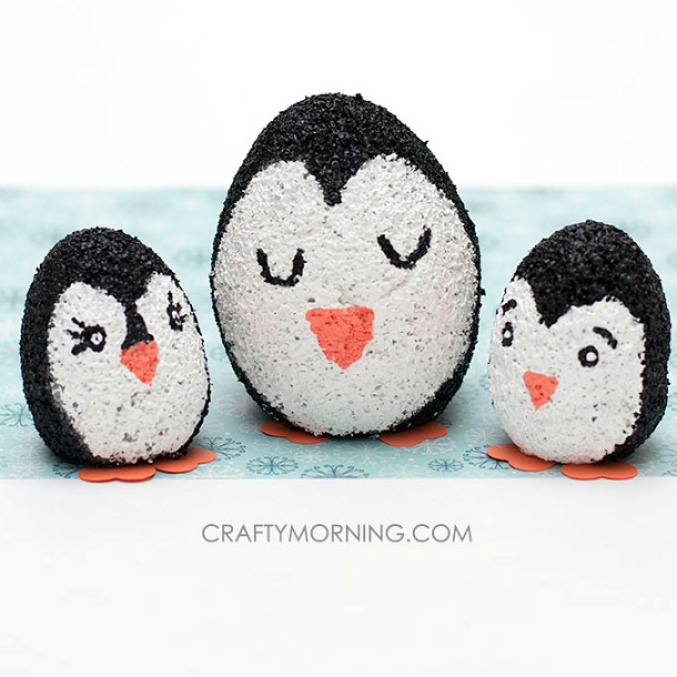 Foam Egg Penguin Craft for Kids