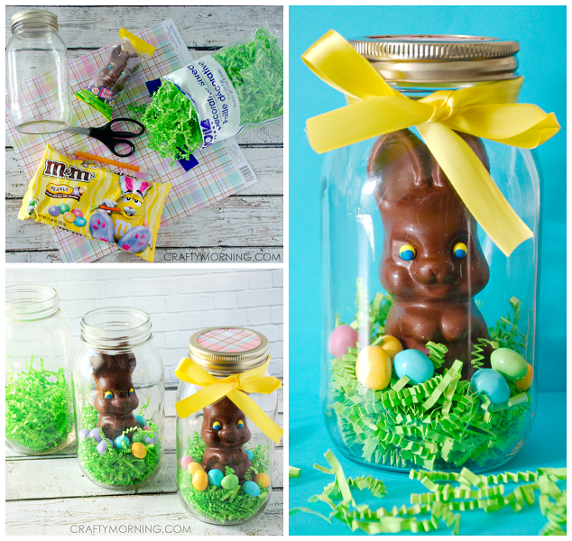 Mason jar chocolate easter bunny gifts crafty morning mason jar easter bunny gift idea negle Image collections